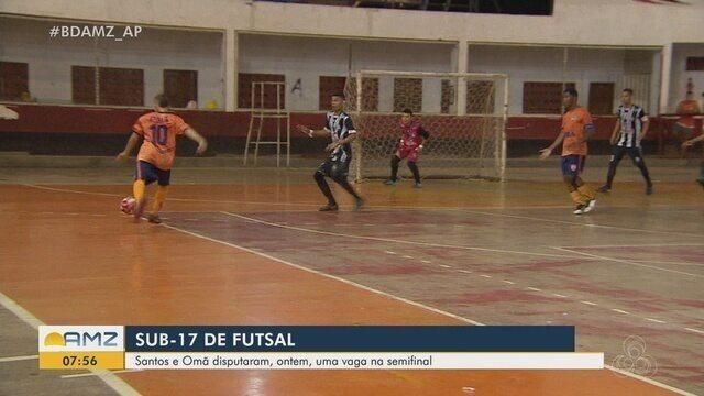 Santos e Omã disputaram uma vaga na semifinal do Sub-17 de Futsal, em Macapá