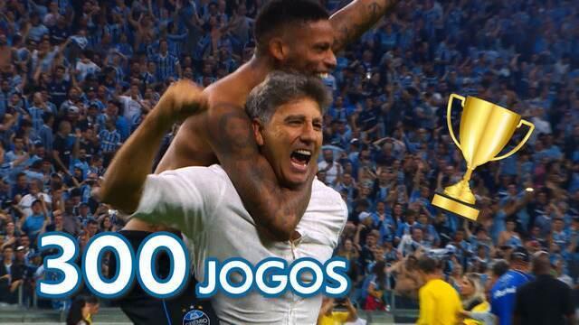 Perto de completar 300 jogos no comando do Grêmio, Renato Gaúcho acumula títulos no clube