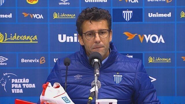 Confira a entrevista coletiva com o técnico Alberto Valentim