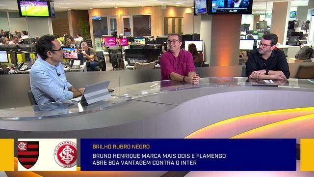 Comentaristas comentam a vitória do Flamengo contra o Inter pela Libertadores
