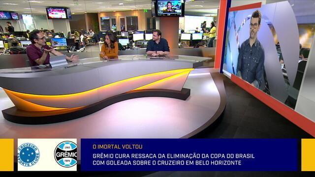 """Jornalista analisa escolhas de Renato Gaúcho no Grêmio: """"Claramente não prioriza o Brasileiro"""""""