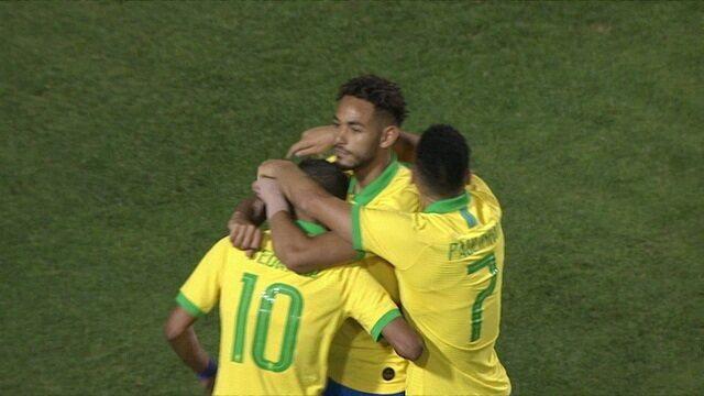 Os gols de Brasil 3 x 1 Chile pelo Amistoso Internacional Sub-23