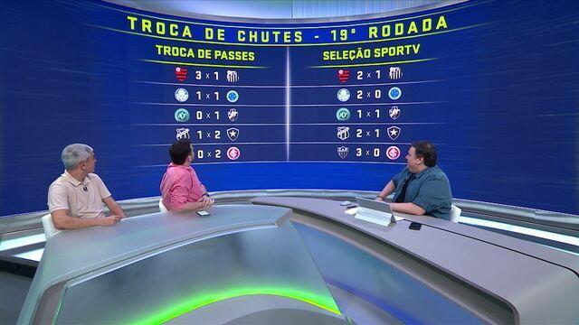 Troca de Chutes: Palpites entre Troca de Passes x Seleção SporTV para a 19ª rodada
