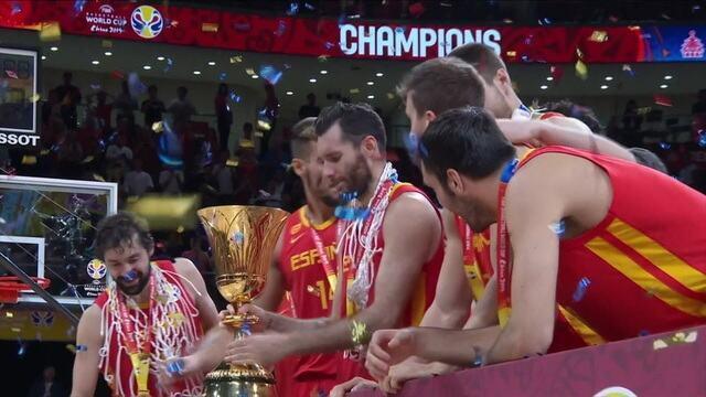 Espanha Bicampeã mundial de basquete.