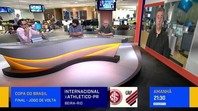 Redação SporTV debate declaração de Tiago Nunes