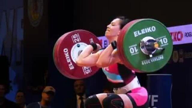 Kuo Hsing-chun bate os recordes de arremesso e total e é campeã mundial na Tailândia