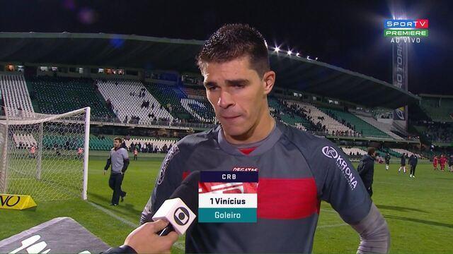 Vinicius Silvestre dedica vitória do CRB para o lateral-esquerdo Igor