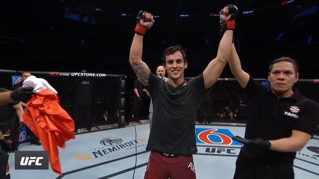 Melhores momentos de Cláudio Puelles x Marcos Dhalsim no UFC Cidade do México