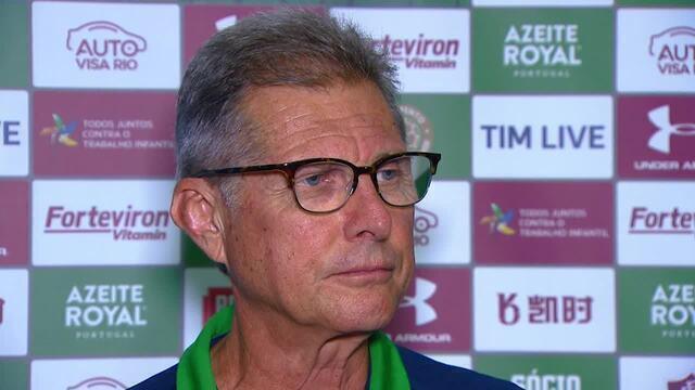 Oswaldo de Oliveira fala sobre derrota do Fluminense para o Goiás no Campeonato Brasileiro