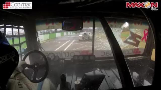 Objeto destrói para-brisa e causa susto em etapa da Copa Truck em Cascavel