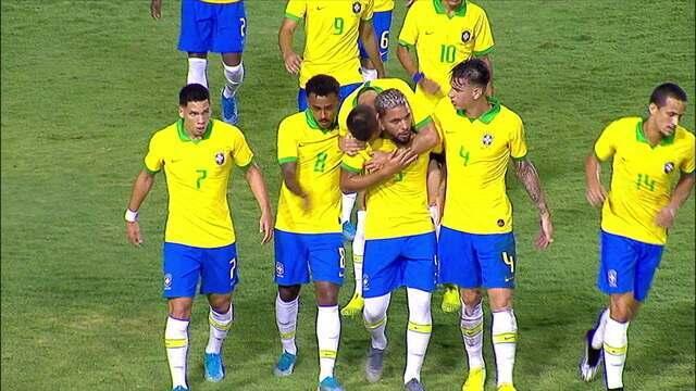 Os gols de Brasil 4 x 1 Venezuela em amistoso internacional sub-23