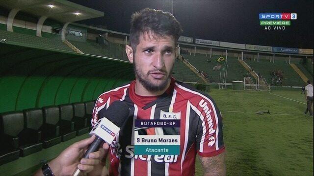Entrevista pós-jogo do atacante Bruno Moraes do Botafogo-SP