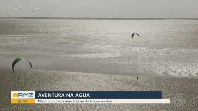 Kitesurfistas encaram travessia de 500 quilômetros entre Amapá e Pará