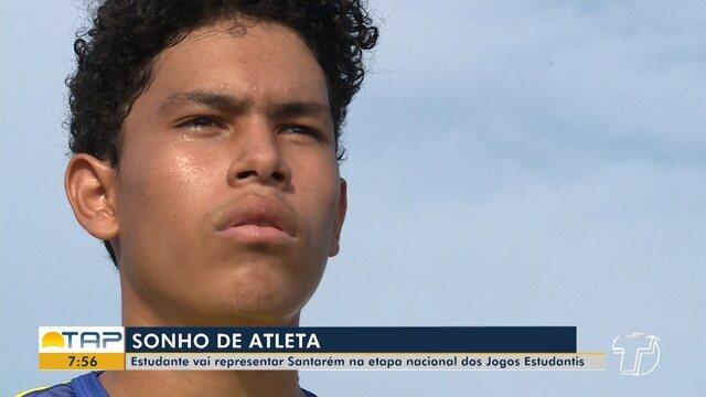 Estudante santareno vai representar o município na etapa nacional dos jogos estudantis