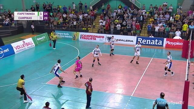 Melhores momentos de Itapetininga 3 x 2 Campinas pela semifinal do Campeonato Paulista de vôlei masculino