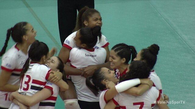 Pontos finais de São Paulo-Barueri 3 x 0 Osasco pelo Paulista de Vôlei