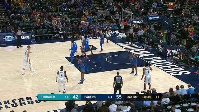 Melhores momentos: Indiana Pacers 111 x 85 Oklahoma City Thunder, pela NBA