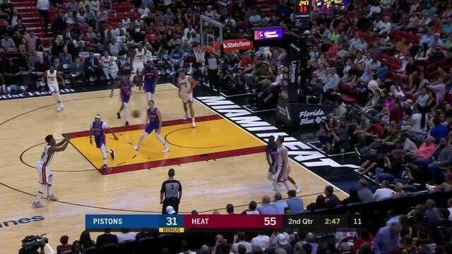 Melhores momentos: Miami Heat 117 x 108 Detroit Pistons, pela NBA