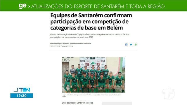 Atletas que confirmaram participação em competição em Belém é destaque no GE