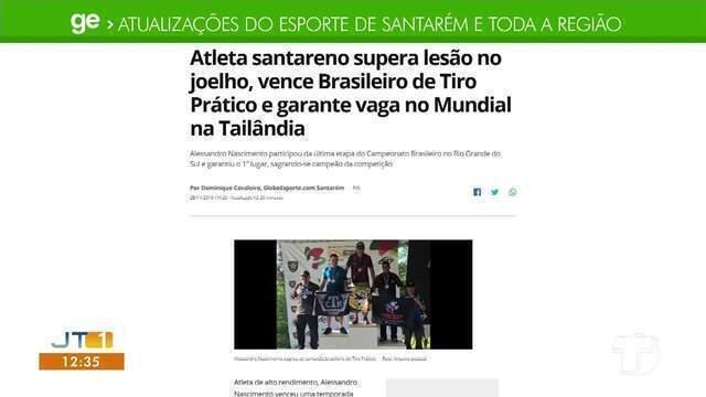 Atleta santareno vence brasileiro de tiro prático e garante o mundial é destaque no GE