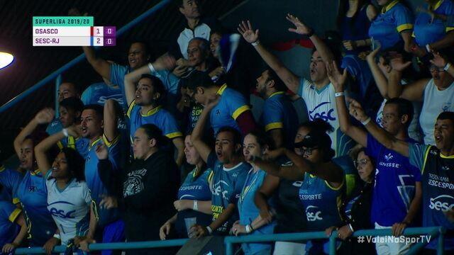Melhores momentos de Osasco 2 x 3 Sesc-RJ pela Superliga de vôlei feminino