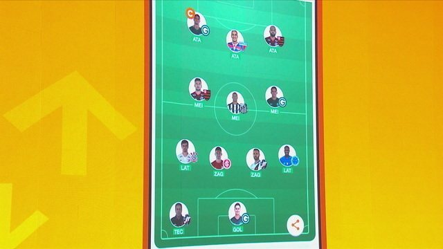 Confira a escalação completa do time oficial do Cartola para a última rodada do Brasileirão