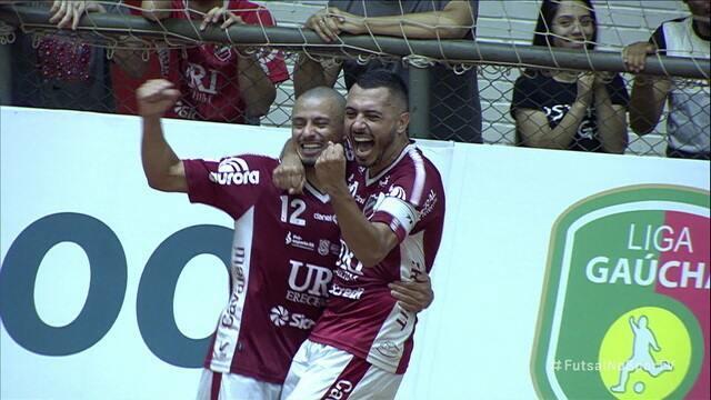 Os gols de Atlântico Erechim 4 x 0 Guarany pela Liga Gaúcha de Futsal