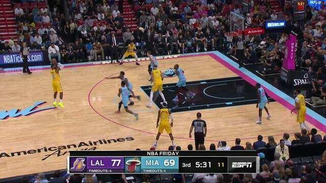 Melhores momentos de Los Angeles Lakers 113 x 110 Miami Heat pela NBA