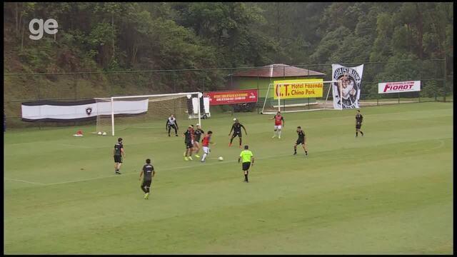 O gol do jogo-treino Estrela do Norte 1 x 0 Botafogo