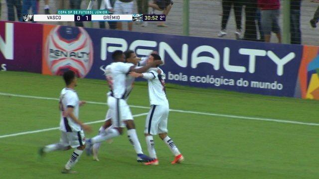 Os gols de Vasco 1 x 1 Grêmio pelas quartas de final da Copa SP de Futebol Júnior