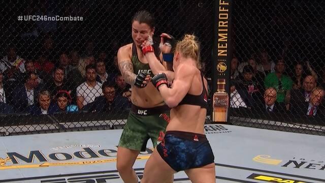 Melhores Momentos de Holly Holm x Raquel Pennington no UFC 246, no dia 18/01/2020.