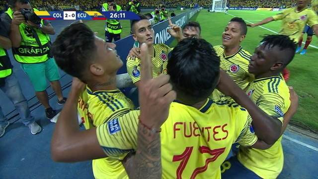 Os gols de Colômbia 4 x 0 Equador pelo Pré-olímpico de futebol sub-23