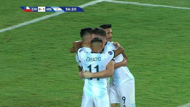 Os gols de Chile 0 x 2 Argentina pelo Pré-olímpico de futebol sub-23