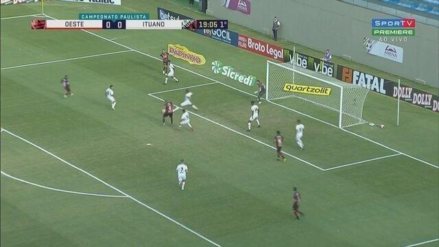 O gol de Oeste 1 x 0 Ituano pelo Campeonato Paulista