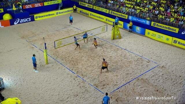 Pontos finais: Ricardo/Vítor Felipe 0x 2 George/André pela semifinal do Campeonato Brasileiro de vôlei de praia