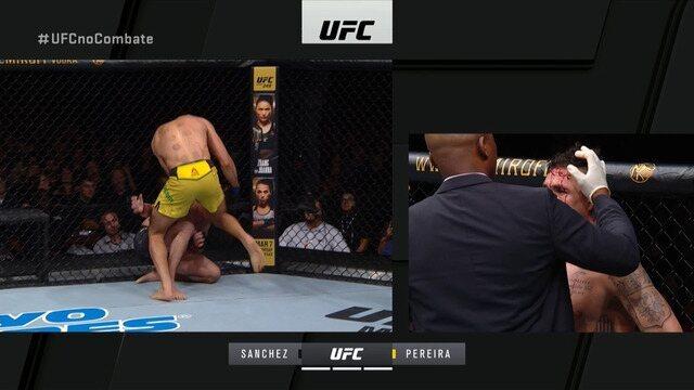 Joelhadas ilegais no UFC Rio Rancho em 15/02/2020