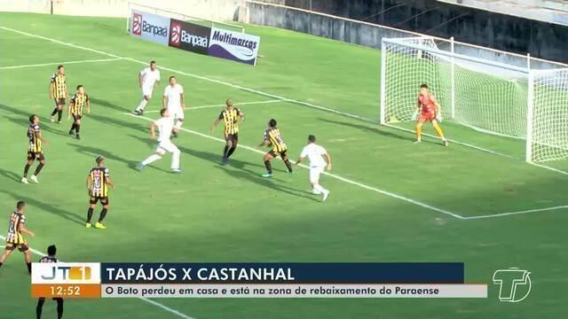 Tapajós perde por 2 a 1 para Castanhal pela 5ª rodada do Parazão em Santarém