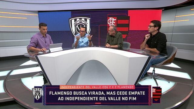 Comentaristas debatem sobre a arbitragem do jogo Flamengo e Independiente Del Valle e elogia o time equatoriano