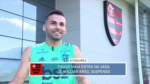Conheça melhor Thiago Maia, volante que vai entrar no lugar de Arão contra o Barcelona de Guayaquil