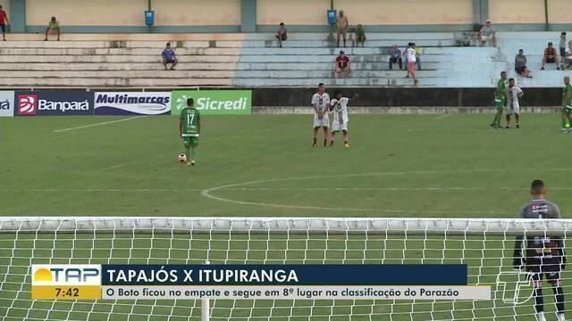 Tapajós e Itupiranga empatam em 0 a 0 e permanecem em condições iguais no Parazão
