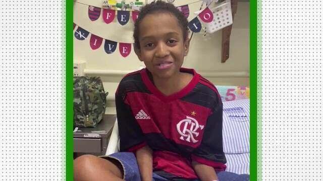 Fã de Gabigol, Braian diz que sonha em assistir a um jogo do Flamengo no Maracanã