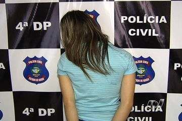 A 27-year-old woman arrested for bank fraud in Goiania, Goias on Monday