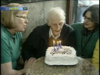 Renalto Risi Palombo celebrates his 104th birthday Wednesday 15 August 2012