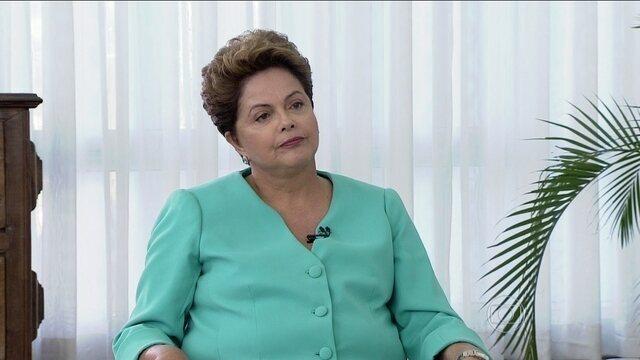 Dilma diz que mudança na economia brasileira depende dos EUA