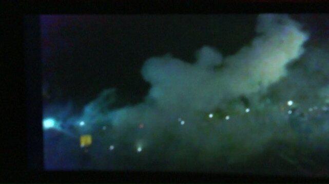 magens de celular mostram pessoas atingidas por fogos de artifício no PR