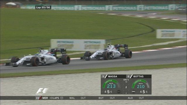 Massa é ultrapassado por Bottas na penúltima volta e lamenta