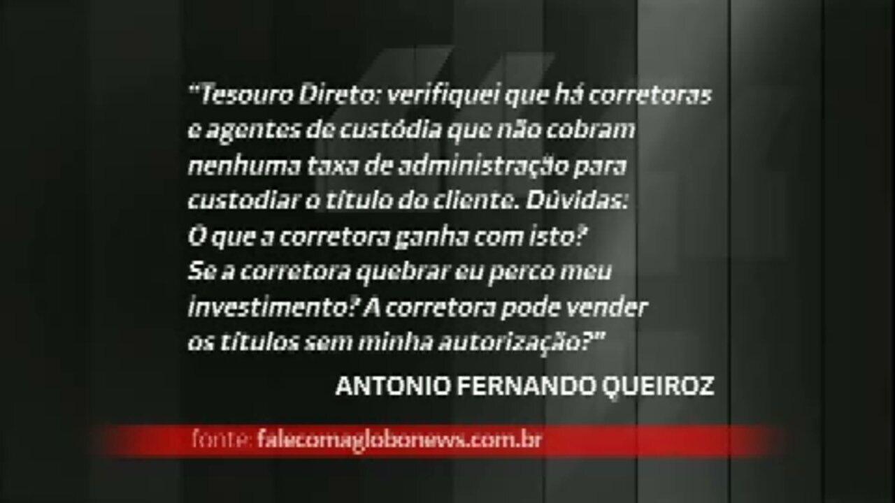 Especialista tira dúvidas sobre investimento no Tesouro Direto - GloboNews – Conta Corrente - Catálogo de Vídeos