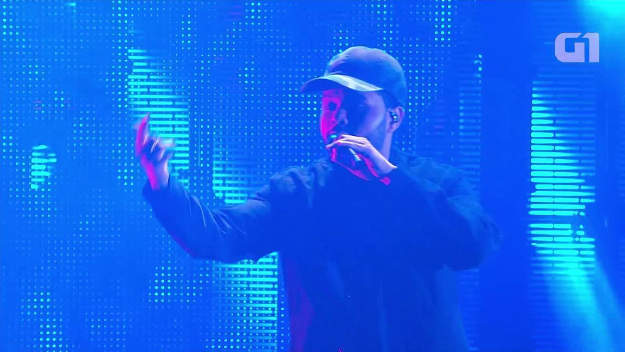 The Weeknd canta 'Starboy' no Lollapalooza