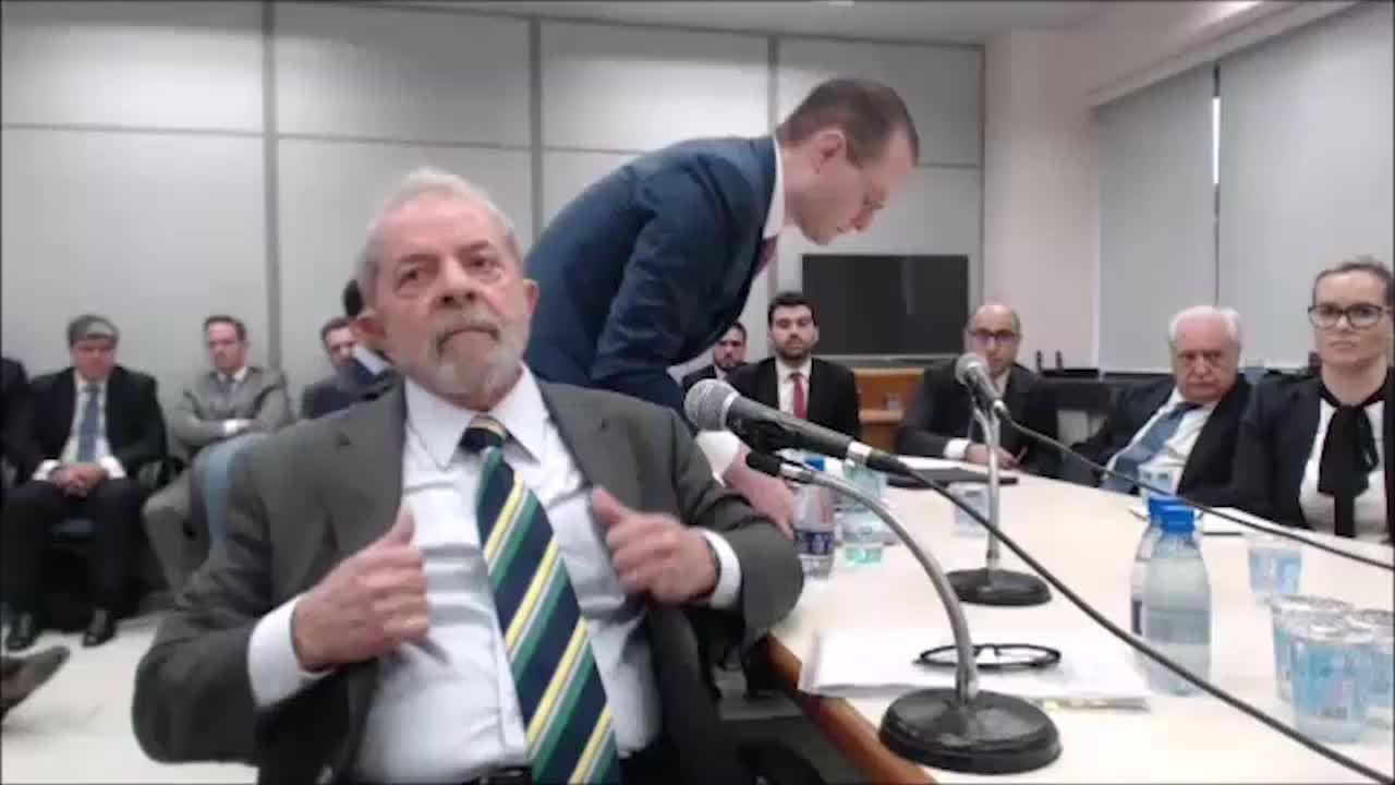 Veja o primeiro vídeo do depoimento de Lula a Moro