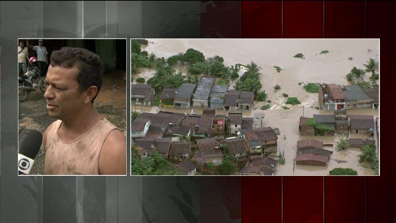 Governador de PE decreta estado de calamidade em 15 municípios por causa da chuva